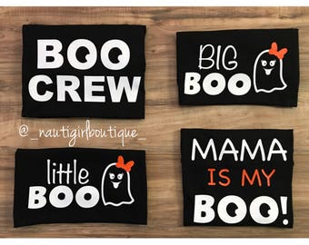 Mama is my boo, halloween kids shirts, matching brother shirts, halloween,