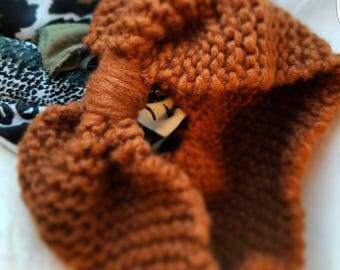Brown woolen headband