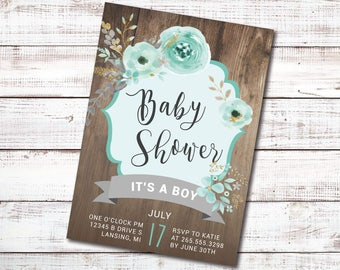 Baby Shower - It's A Boy Invitations