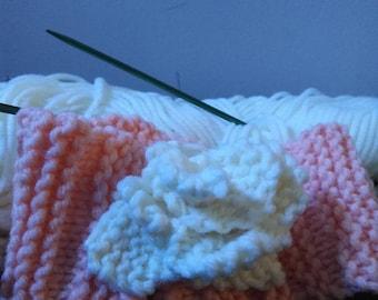 Knit flower headband for infant girl