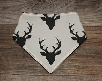 Bandana Bib | Buck | Bibdana | Deer | Antlers | Teething | Baby | Unisex | Drool Bib | Kenton Creations | Perfect Gift | Handmade in Canada
