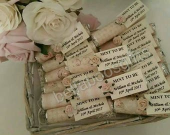 Mint to be favours, vintage style wedding favours, mint to be, personalised wedding favours, 100 FAVOURS, mint to be wedding favours