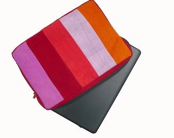 Laptop case, padded phone case, laptop protection, organic dye, artisanal weaving Macbook Air computer case