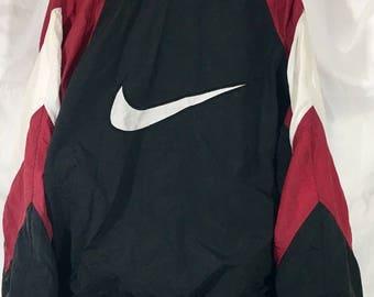 Vintage Retro Nike Windbreaker Track Jacket Mens
