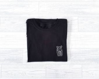 Screen Print T-Shirt - Wilbur Tee - Black