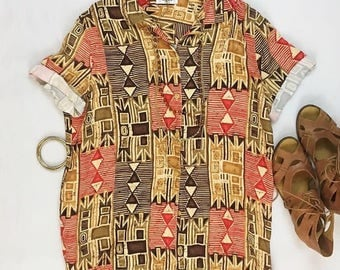 Tribal Betty Vintage Top