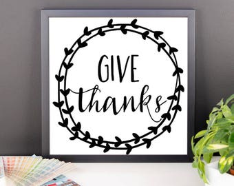 Give Thanks Framed Wall Art