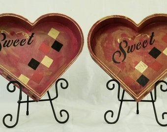 "Lightweight Wooden Trays ""SWEET TREATS"""