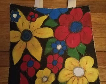 Summer flowers hand-painted