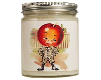 Apple Soy Candle, Retro Kitchen, soy candle, scented candle, Kitchen Decor, Container Candle, Anthropomorphic, Housewarming Gift