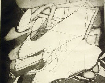 Frank Roth Etching - Abstract 1962  (Ed. 27/50)