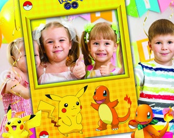 Pokemon Go Party Photo Booth Prop Frame, Instant Digital Download, Pokemon Party, Pokemon Gifts, Pokemon Go Frame, Pokemon Frame, Pokemon Go
