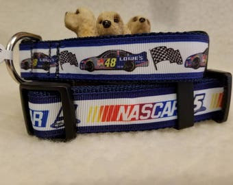 Racing Drivers Handmade Dog Collar 1 Inch Wide Large Or Medium