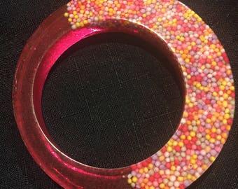 Pink doughnut bangle