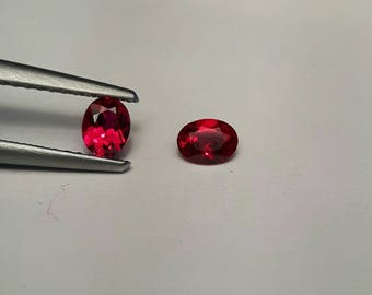Songean 0.46ctw Ruby about 4x3mm oval
