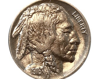 1916 D Buffalo Nickel - Gem BU / MS / UNC