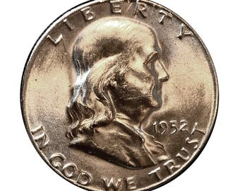 1952 S Franklin Half Dollar - Gem BU / MS / Unc / Brilliant Uncirculated