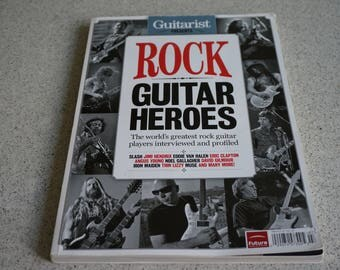 Vintage Collectible Rock - Guitar Heroes Book/ Livre usagé de collection Rock-Guitar Heroes/ Printed In UK