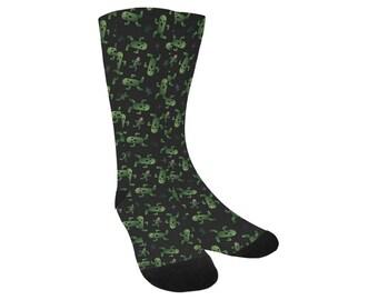 Cactuar Socks - Knee High Socks Final Fantasy VI Socks Cosplay Socks Comicon Socks Videogame Socks Bikanel Island Socks Cactaur Socks