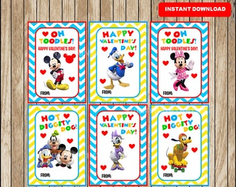 mickey mouse valentines day cards instant download printable mickey mouse clubhouse valentine cards minnie