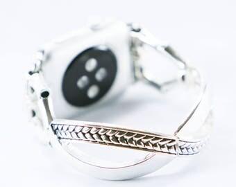 Womens Apple Watch, Silver Apple Watch, Women's Apple iWatch, Apple Watch Band 38mm, Women's Replacement Band, Apple Watch Silver, iWatch