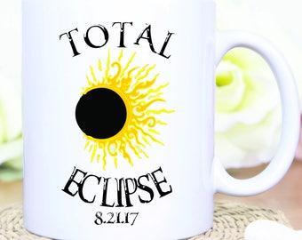 Custom 2017 Total Eclipse Mug, Total Eclipse Mug, Solar Eclipse Mug, Eclipse Gift, Eclipse Souvenir,Solar Eclipse Cup,2017 Solar Eclipse Mug