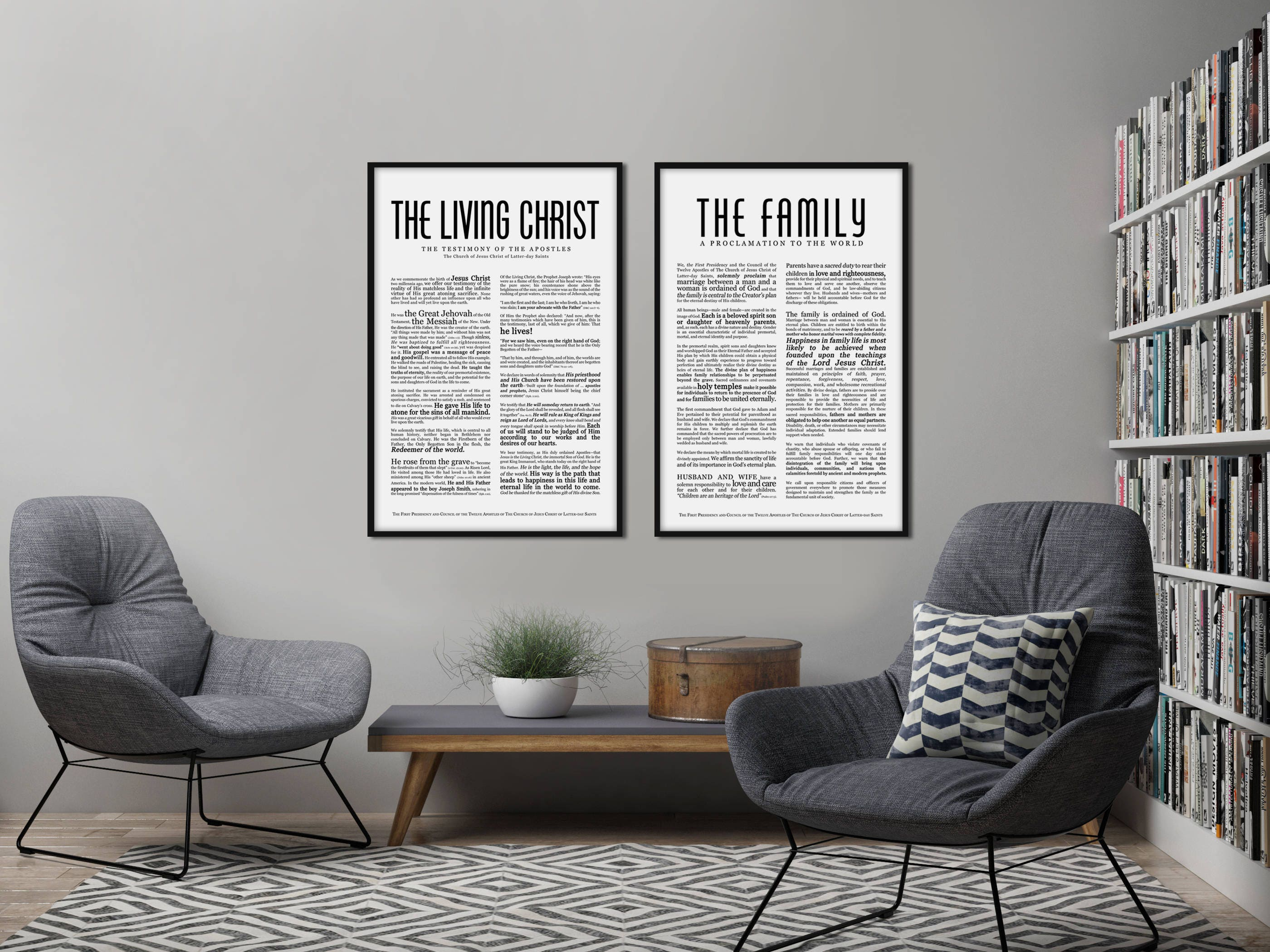 Family proclamation print masculine modern title lds for Modern family printer