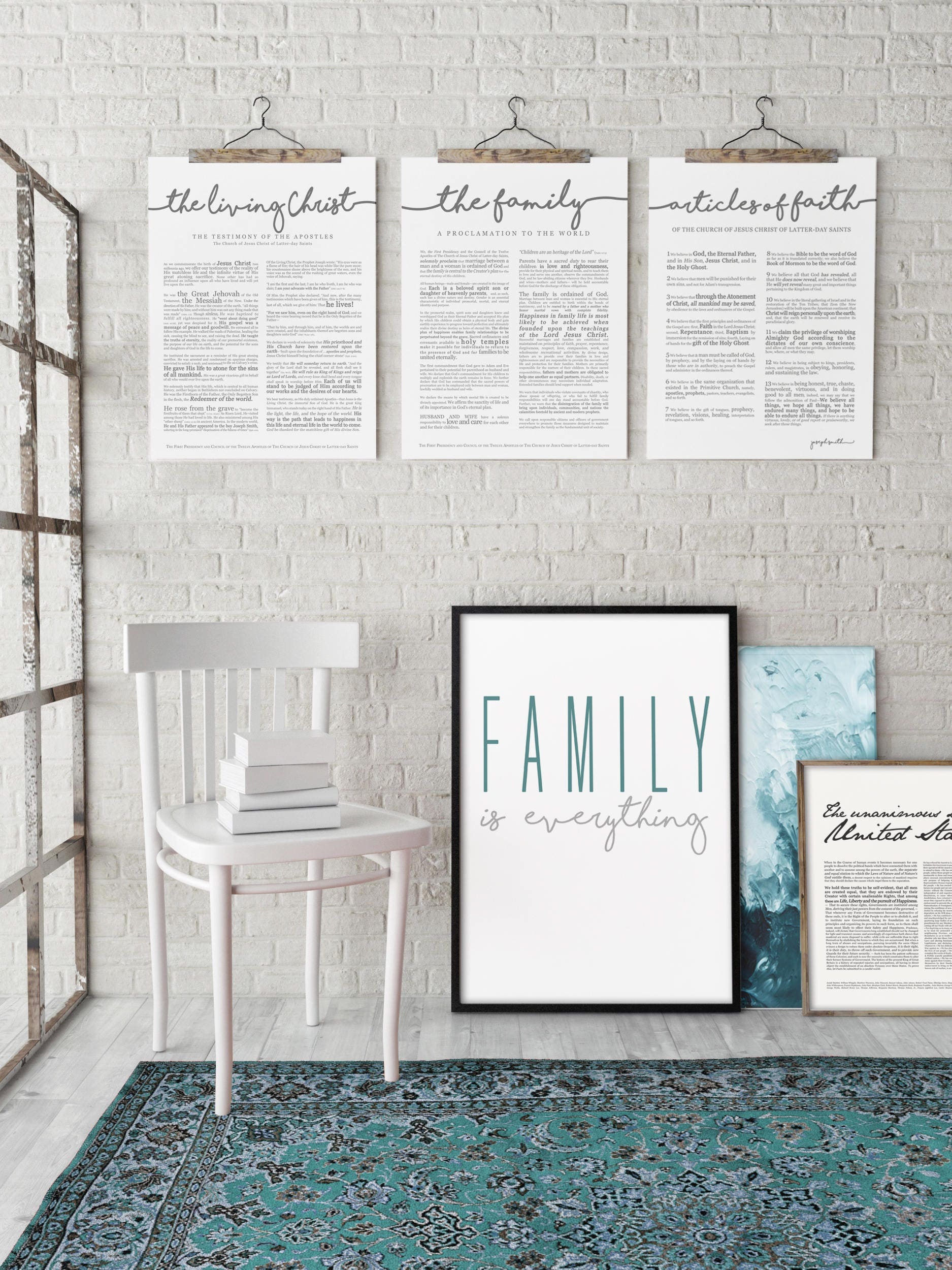 Family proclamation print lds various sizes for Modern family printer