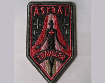 Astral Traveler Embroidered Patch, lucid dreaming, cartoon patches, patches for jackets, astral projection, out of body, spiritual world