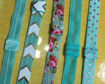 MINT green Custom PLANNER BAND:Planner accessories, Elastic Band, Create 365, Mambie, Happy Planner, Erin Condren, Custom Made, Summer