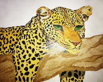 A4 size leopord for your wall