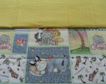 Animal babies childs quilt, baby quilt, toddler quilt, crib quilt, handemade quilt, nursery