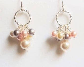 Swarovski Pearl Dangling Earrings