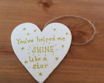 Decorative and personalised hanging heart