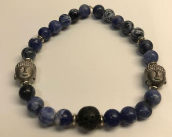 Buddha & Lava Bracelet