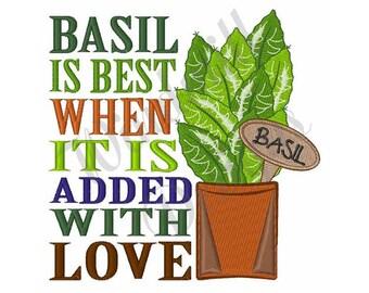 Basil Plant - Machine Embroidery Design