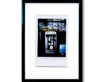 "Fine Art Photography ""Payphone"" Framed Instax Mini Print"