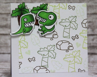 Card with speaking dinos