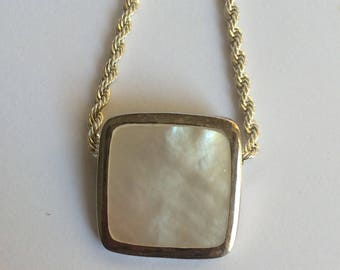 Silver and Shell square shaped Pendant
