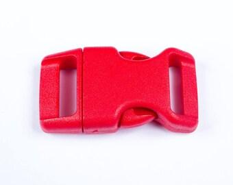 Red plastic clip for 20mm Paracord bracelet