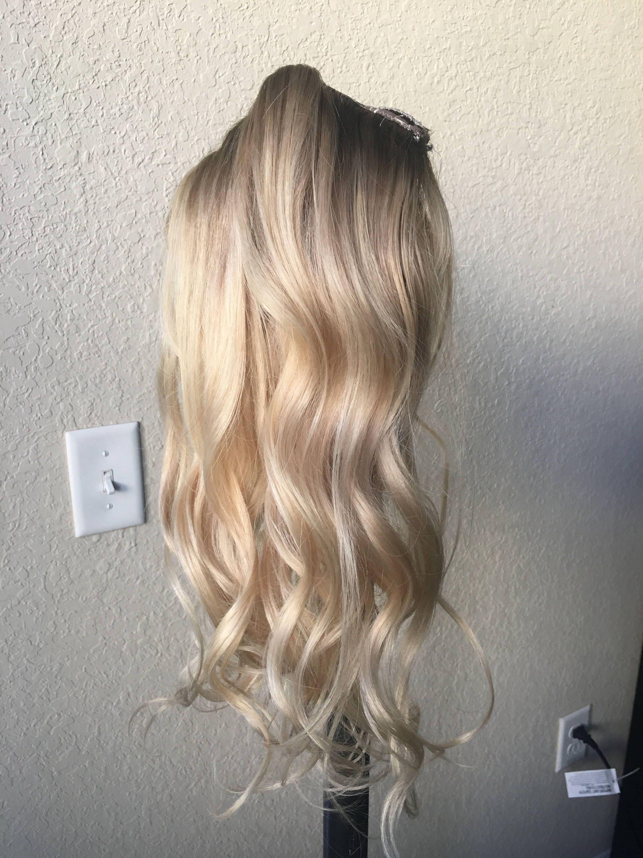 Natural blonde balayage clip in hair extensions human hair zoom pmusecretfo Images