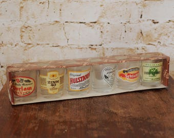 Vintage Set of 6 Collectible Shot Glasses