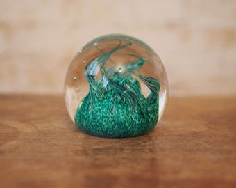 Caithness Seaform Glass Paperweight - Handmade in Scotland