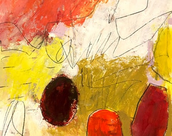 Original Abstract art on paper, modern home decor