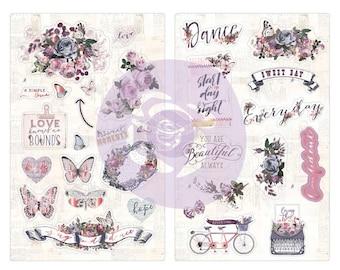 Prima Marketing Inc - Lavender - Chipboard Stickers