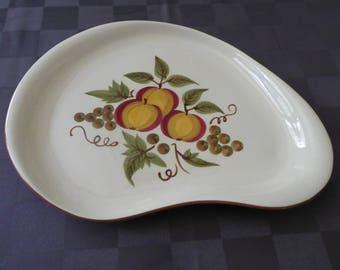 Mid Century Stangl Apple Delight Boomerang Platter