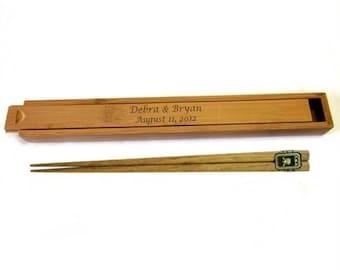 Personalized Bamboo Chopsticks Box