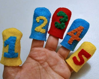Fun interactive learning tool - Numbers Finger puppets