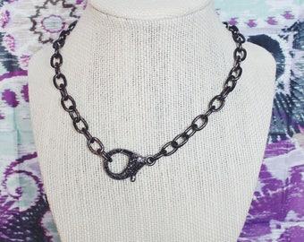 Pave Gunmetal Chain Choker