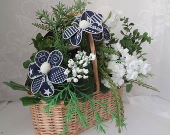 Dallas Cowboys Floral Basket Arrangement #1160